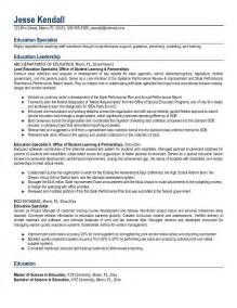 education in resume exles exle education specialist resume free sle
