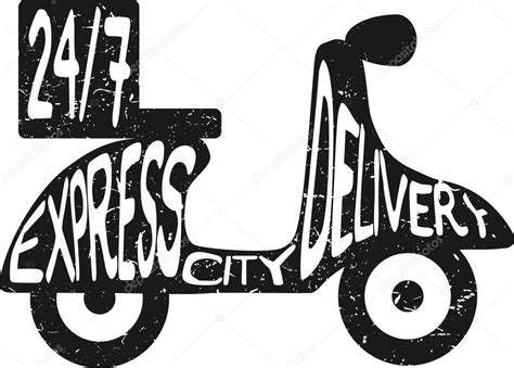 cuisine express scooter express food delivery vector illustration icon