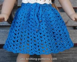 Crochet Patterns Galore - American Girl Doll Seashell Summer Skirt