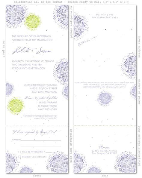 lavender wedding cards lolita plantable paper