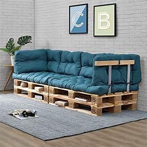 Paletten Couch Kissen : paletten sofa indoor mit kissen t rkis ~ Orissabook.com Haus und Dekorationen
