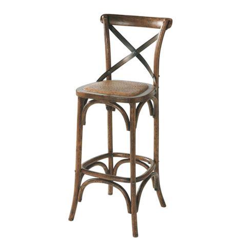 maison du monde chaise de bar chaise de bar en rotin et chêne effet vieilli tradition