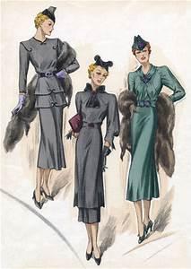 30s Fashion Sea-Colored Dresses | 1930s Fashion Fashion ...