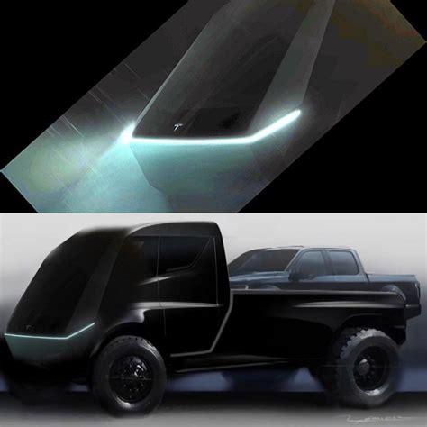 tesla pickup trucks latest teaser image sparks   era