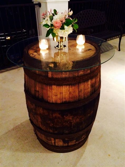 Rustic Wine Barrel Cocktail Table Dpc Event Services