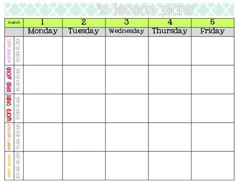Free Printable Blank Lesson Plan Template Sanjonmotel