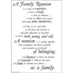 Family Reunion Poems and Quotes