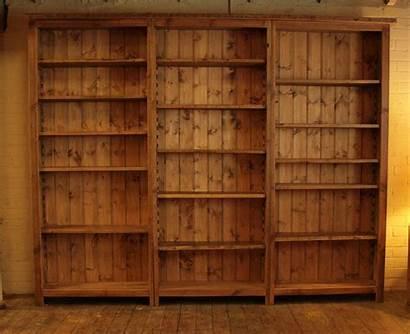 Bookshelf Bookcase Empty Desktop Shelves Desk Wide