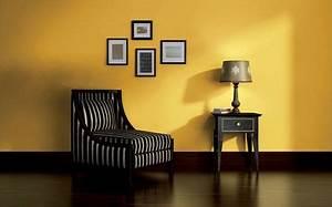 Décoration Salon Jaune Moutarde : peinture jaune moutarde pale fluo c t maison ~ Melissatoandfro.com Idées de Décoration