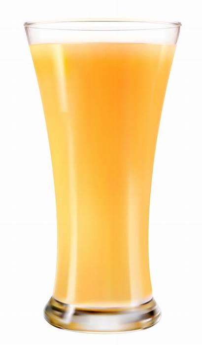 Juice Glass Orange Transparent Clipart Fresh Apple