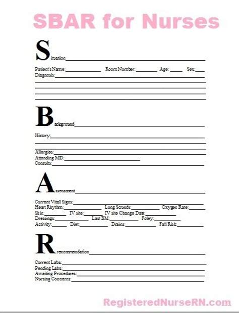 sbar communication   communication  pinterest