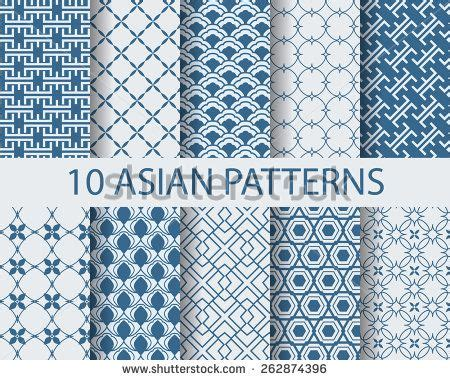 chinese asian traditional seamless patterns