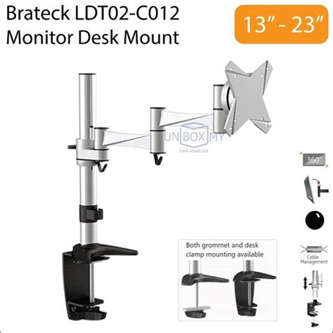 Brateck Cpu Holder Desk Mount by Brateck Ldt02 C012 13 23 Inch Monito End 3 14 2017 6 15 Pm