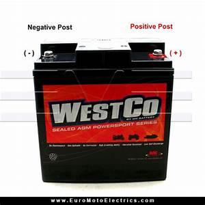 Westco Sealed 12v  25ah Agm Battery For Bmw Airhead  U0026 K