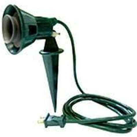 new 4410239 green lawn yard stake flood stake light kit bulb 6ft cord ebay