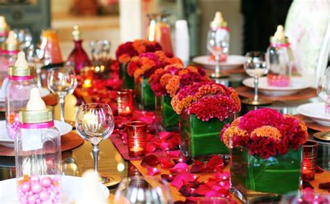 table setting moroccan baby shower popsugar moms photo