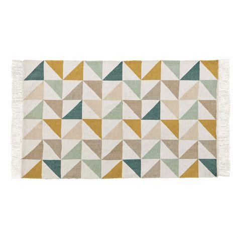 tapis motif triangles en coton    cm gaston