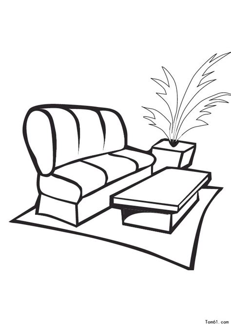 comment dessiner un canapé 沙发图片 简笔画图片 少儿图库 中国儿童资源网