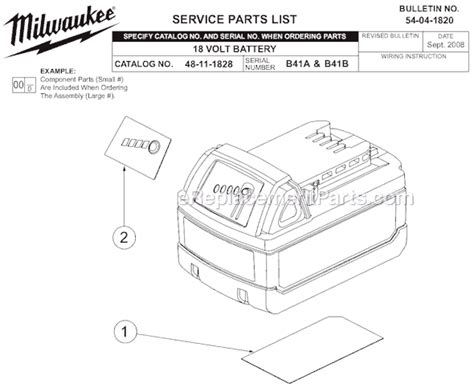 Milwaukee Parts List Diagram Ser