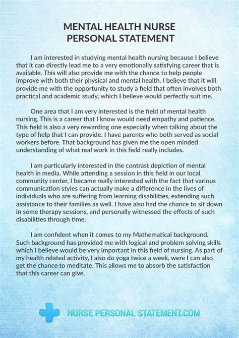 pin  mental health nurse personal statement
