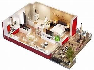 Studio apartment floor plan interior design ideas for Studio apartments plans
