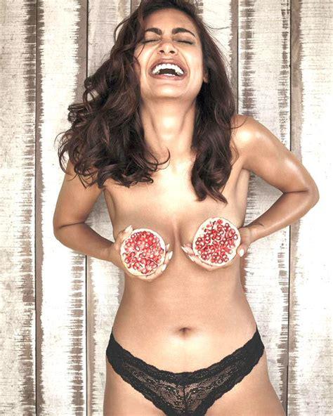 HOT! Esha Gupta's topless mantra for fitness - Bollywood Hungama