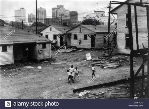 african american children playing  slum  view  high