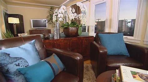 brown and blue living room the design of modern living room model home interiors