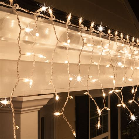 how to store net christmas lights icicle light 150 clear twinkle icicle lights white wire