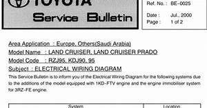 Famous Car Manual  2000 Land Cruiser  Prado  Electrical Diagram Service Manual