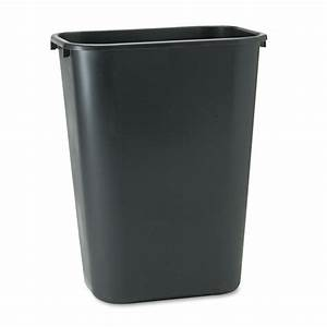 Black rubbermaid soft molded plastic office home kitchen for Rubbermaid kitchen trash cans
