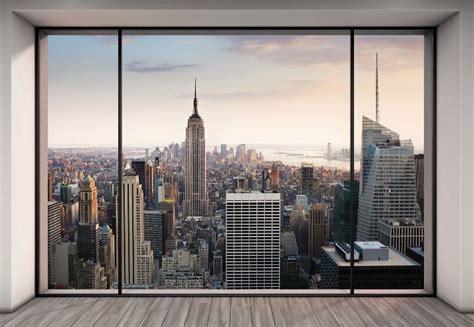 wall mural  york city skyline penthouse photo