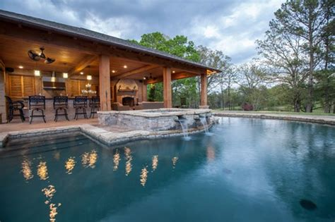 house plans with pools and outdoor kitchens swimming pool with outdoor kitchen plans backyard landscaping ideas swimming pool design