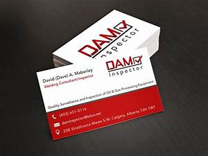 Business card design for a calgary oil gas inspection for Gas card for business