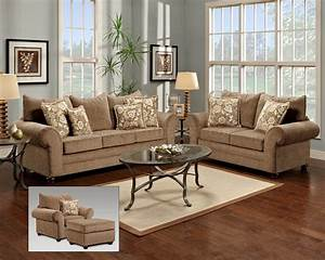 Beige, Fabric, Traditional, Sofa, U0026, Loveseat, Set, W, Options