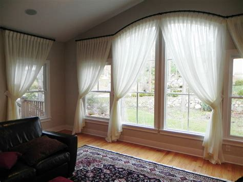 Draperies By Susan - arched windows traditional living room detroit by