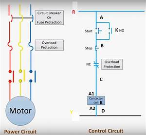Dol Starter Circuit Control Diagramdiagram