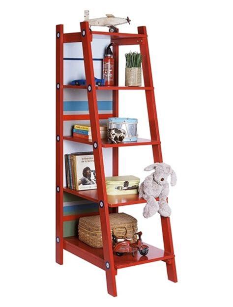 chambre garcon pompier etagère échelle enfant pompier vif bicolor
