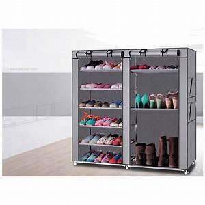 Zimtown, Double, Shoe, Boot, Closet, Rack, Shelf, Storage, Organizer, Cabinet, Portable-, 9, Lattice