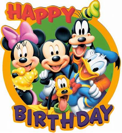 Birthday Disney Clipart Happy Mickey Mouse Characters