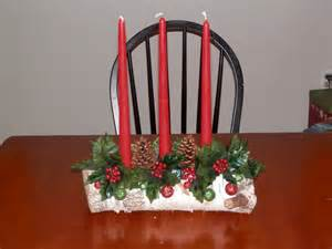 candle wedding centerpieces my yule log candle holder