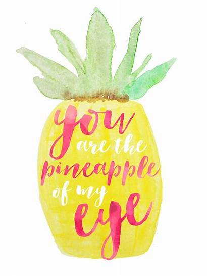 Pineapple Quotes Summer Eye Sayings Clipart Words