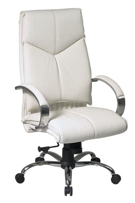 white office chair leather 7270 office deluxe high back executive white
