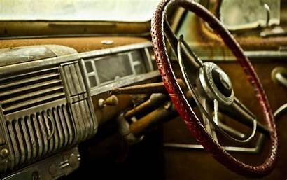 Interior Retro Close Wallpapers Classic Steering Wheel