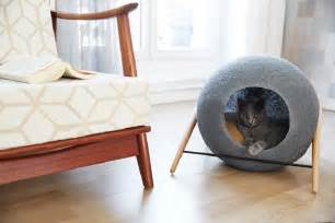 modern kitchen furniture design stylish cat beds and cocoons for the discerning pet
