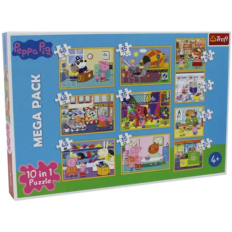 tappeto puzzle peppa pig peppa pig 10 in 1 jigsaw puzzle set jigsaw puzzles at