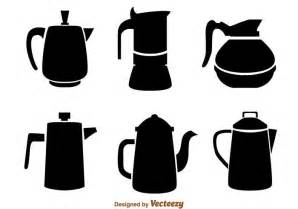 the kitchen collection inc coffee pot black icons free vector stock
