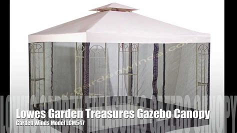 replacement canopy   lowes garden treasures classic  gazebo youtube