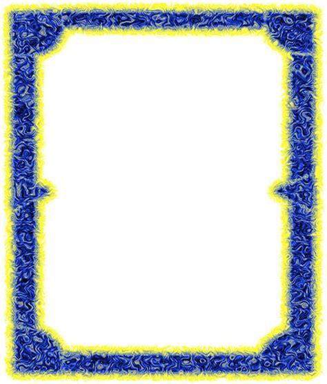 borders border clip art yellow blue frames