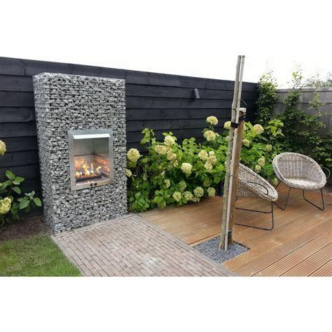 garden gas gabion garden fireplace bbq